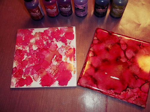 She Zig Zags: Christmas In July - Alcohol Ink Coasters & Other Decor Items