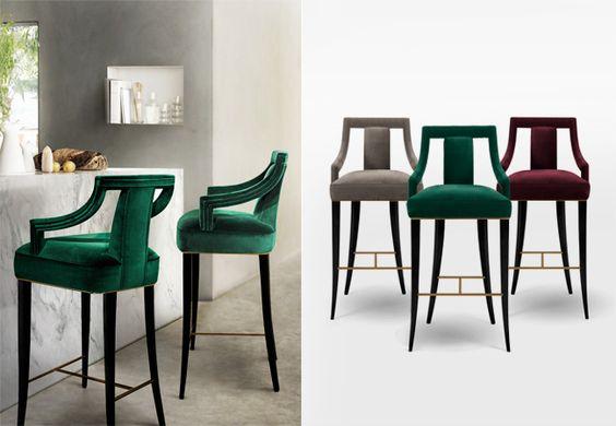 Eanda Modern Bar Chair Modern Upholstered Bar Chair