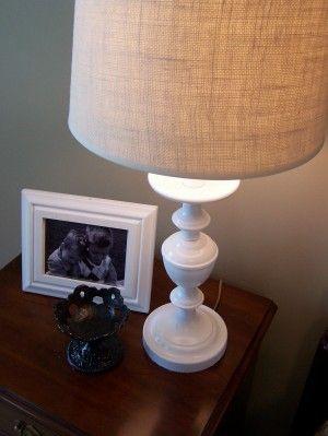 burlap lampshades DIY:
