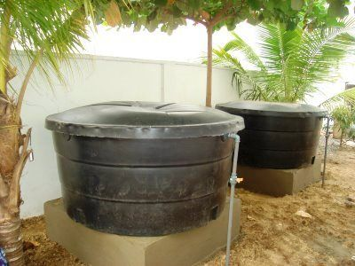 Raising catfish in tanks. You can raise them in as small a container as a 55 gallon drum.