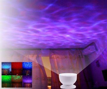 Lampara nocturna para habitación de bebe, al iluminarse hace un efecto agua que servirá para tranquilizar al bebe cuando esta intentando dormir. No cabe duda que las condiciones ambientales relajantes. ayudan a los bebes a conciliar el sueño, luego si combinas esta lampara para la noche con efecto agua en el techo y un poco…