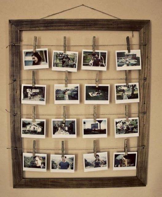 Painel com varal de fotos para decorar a sua festa. Simples e eficiente. Confira mais dicas de decoração para a sua festa nos painéis da Tudo De Bem. www.tudodebem.com.br