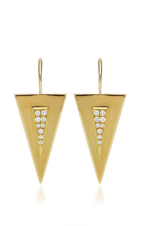 Triangle Earrings by Janis Savitt for Preorder on Moda Operandi