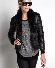 S-xxl tamanho preto casaco de inverno mulheres senhoras moda raposa casaco de pele 2014 nova quente jaqueta de couro sintético sólida Outwear b9(China (Mainland))
