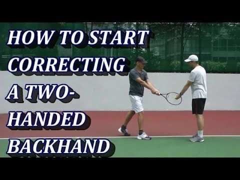How To Diagnose Stroke Problems Two Handed Backhand Example Feel Tennis Tennis Techniques How To Play Tennis Beginner Tennis