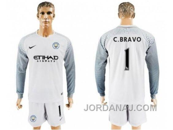 http://www.jordanaj.com/manchester-city-1-cbravo-white-goalkeeper-long-sleeves-soccer-club-jersey.html MANCHESTER CITY #1 C.BRAVO WHITE GOALKEEPER LONG SLEEVES SOCCER CLUB JERSEY Only $20.00 , Free Shipping!
