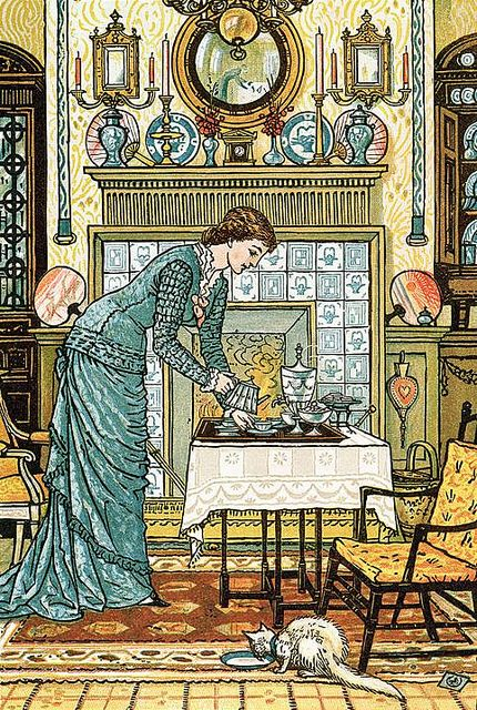 Walter Crane - My Lady's Chamber, frontispiece to 'The House Beautiful' by Clarence Cook, published New York (1881) by Cea.
