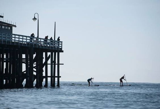 SUP by the pier