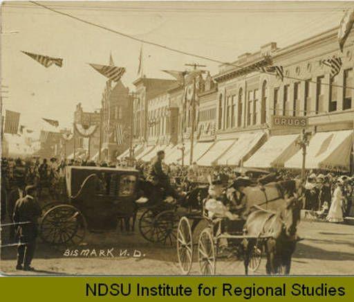 Postmarked 1912. Celebration on Bismarck Street