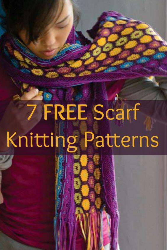 Free scarf knitting patterns, Knitting and Scarf patterns on Pinterest