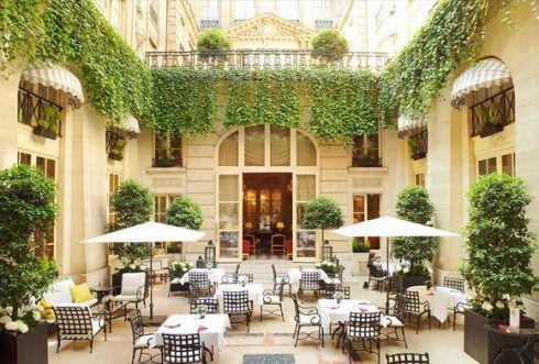 The Patio at Hotel De Crillon, Paris