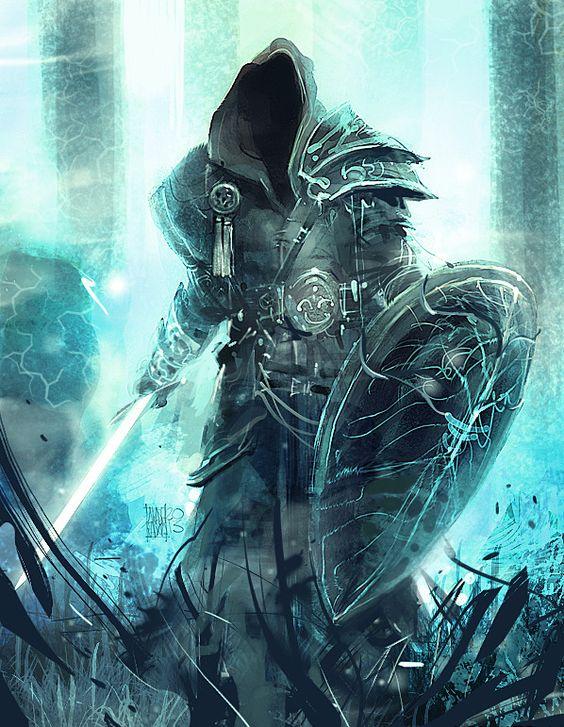 Hooded Warrior Art Awe...
