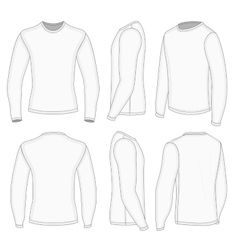 Download Mens White Long Sleeve T Shirt Vector T Shirt Design Template Polo Shirt Design Mens Flight Jacket