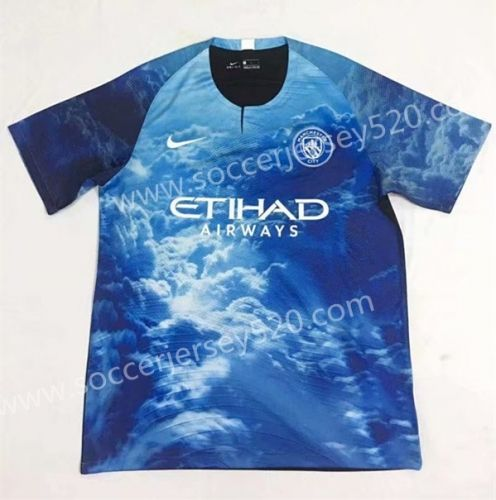 Limited Edition 2018 19 Manchester City Blue Thailand Soccer Jersey Aaa 701