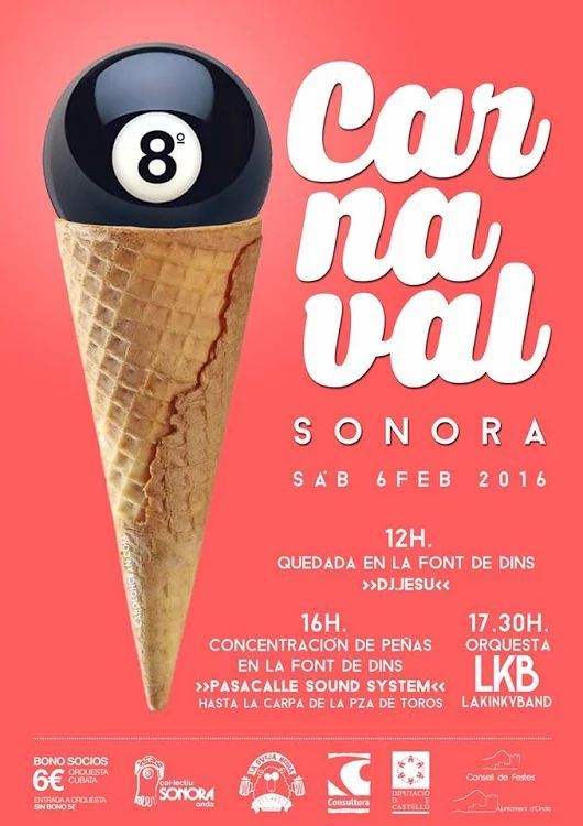 El triángulo » El VIII Carnaval Sonora en Onda será el sábado 6 de febrero http://www.eltriangulo.es/contenidos/?p=61169