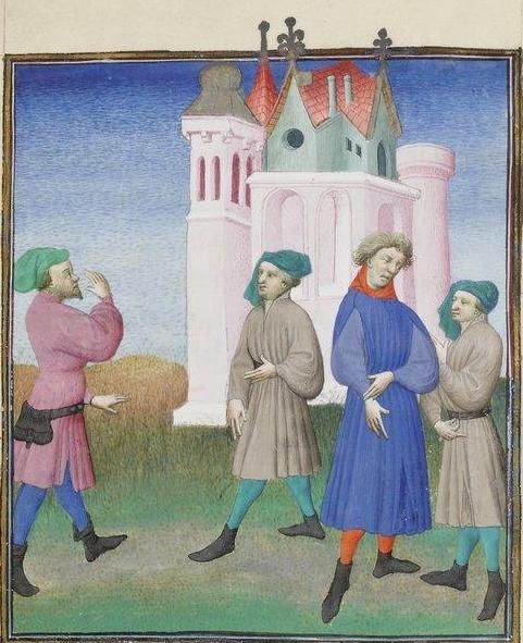 Publius Terencius Afer, Comoediae [comédies de Térence] ca. 1411;  Bibliothèque de l'Arsenal, Ms-664 réserve, 157r