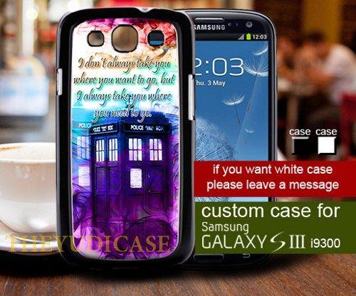 TM 1421 Doctor Who Tardis smoke Quote color - Samsung Galaxy S3 Case