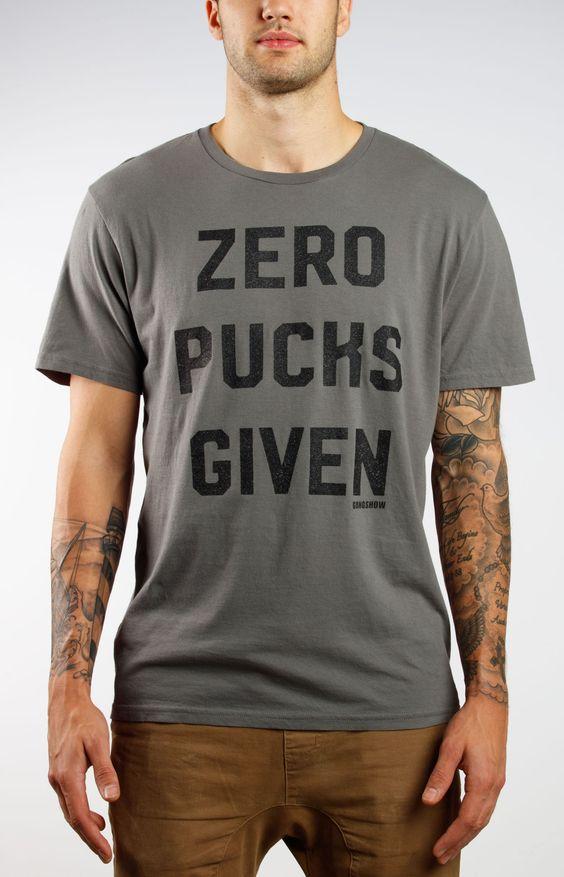 Zero Pucks Given Mens Hockey Tee Gongshow Gear
