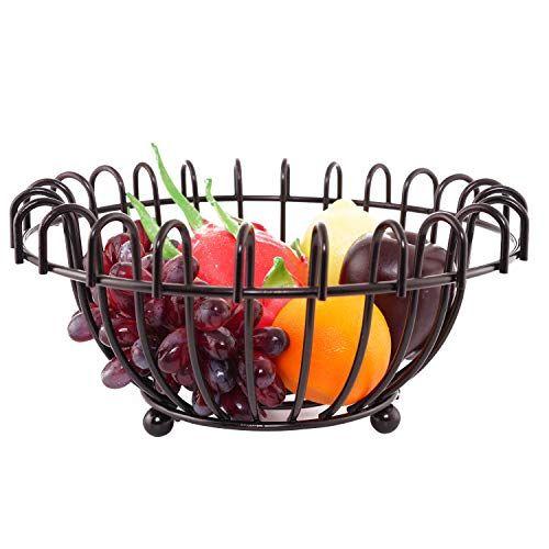 Metal Fruit Bowl Plate Countertop Fruit Storage Basket Wire Fruit Bowl Decorative Centerpiece Bowl For Liv In 2020 Modern Kitchen Tables Fruit Storage Centerpiece Bowl