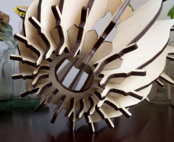 Dandelion lasercut lamp by StudioMossie on Etsy