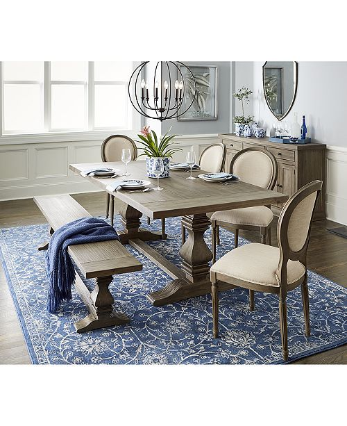 Furniture Tristan Trestle Dining Table Created For Macy S