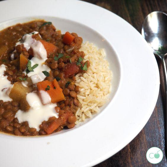 Lentejas marroquíes - Restaurante Vega vegano Madrid
