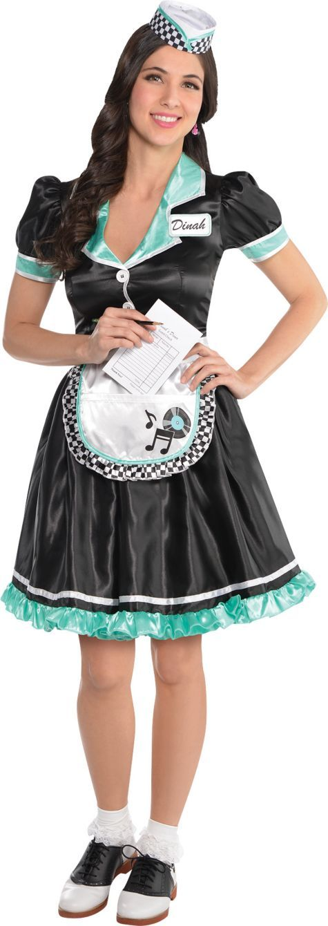 Waitress Halloween Costume diy 50s waitress costume Adult Dinah Delight Waitress Costume Party City