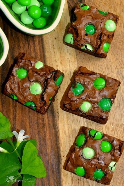 Chocolate Mint Brownies are the best combination of flavors and are perfect for St. Patrick's Day!