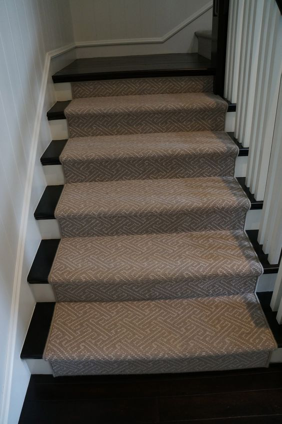 Leighland Wool Carpet Fabricated Into A Stair Runner For A