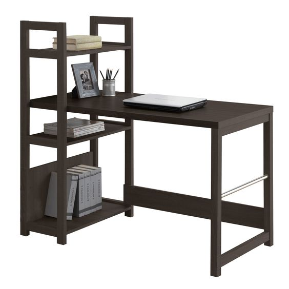 This Bookshelf Style Desk allows you to combine workspace with display your home. It is an attractive option for bedrooms or small offices where it maximizes space use and serves dual functions.