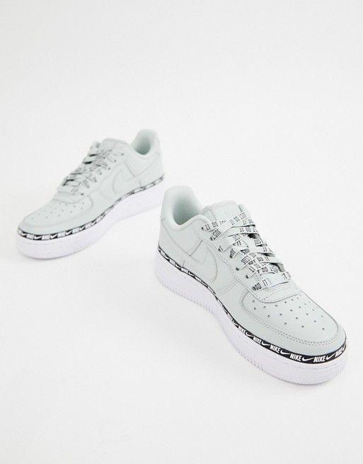Nike Silver Air Force 1 Swoosh Tape