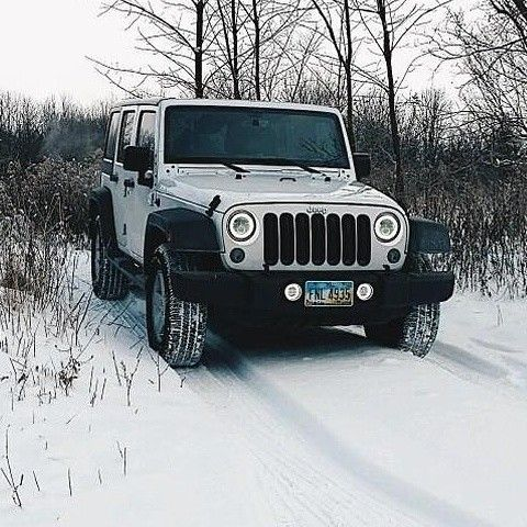 Deep In Snow White Jeep Jk See Our Site For Jeep Parts Jeep