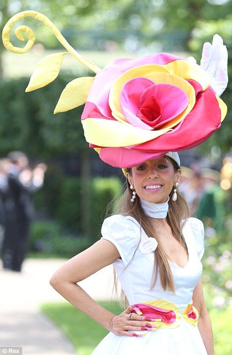 Back again! Milliner Tracey Rose was kicked out of Royal Ascot last year because of her outlandish garb
