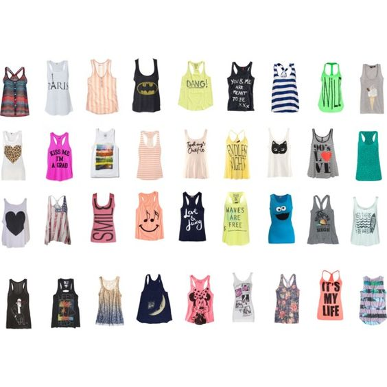Tank Tops, created by sve-ta1 on Polyvore