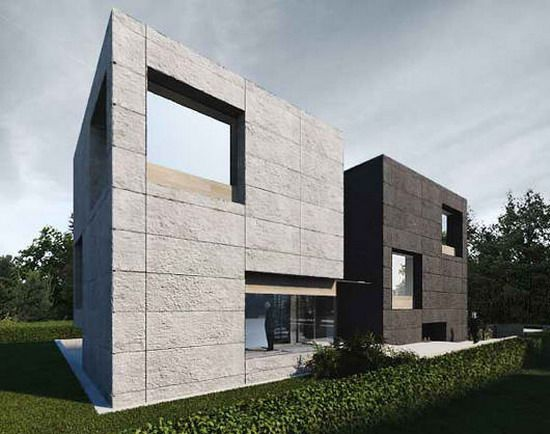 Minimalist office exterior architecture 1 modern for Modern office exterior design