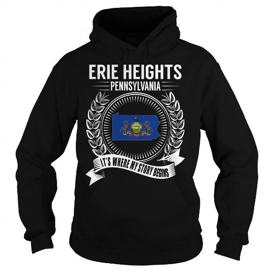 Erie Heights, Pennsylvania - Its Where My Story Begins - #tee style #tshirt necklace. Erie Heights, Pennsylvania - Its Where My Story Begins, disney hoodie,band hoodie. SATISFACTION GUARANTEED =>...