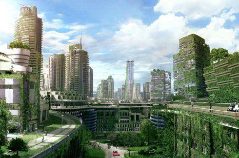 A Solarpunk Paganism Eco City Futuristic City Future City