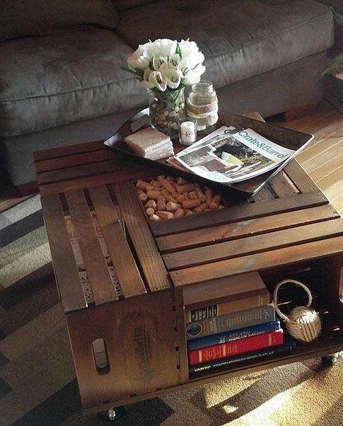 Vintage Chic Crate Coffee Table! Love