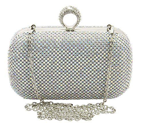 New Women Crystal Clutch Party Wedding Purse Evening Bag Bridal Handbag Chain La Mania http://www.amazon.com/dp/B018TH9CO0/ref=cm_sw_r_pi_dp_K66zwb0PZ1RP9