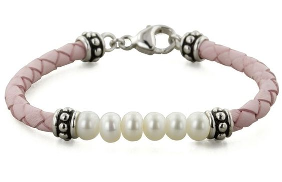 Braided Leather Bracelet with Pearls...So Pretty For Little Girls!