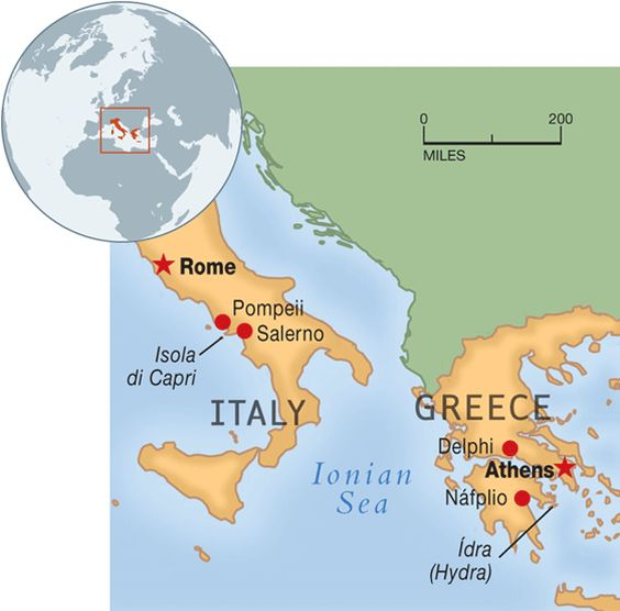Map Of Italy Greece.Map Of Italy And Greece Afp Cv