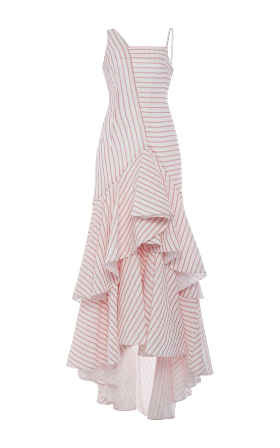 Cotton Intersection Dress With Ruffled Hem by ROSIE ASSOULIN Now Available on Moda Operandi