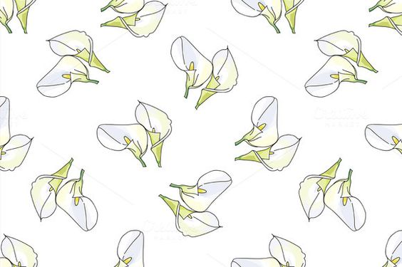 Pattern with calla  by Netkoff on @creativemarket