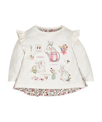 Floral and Bunny Top