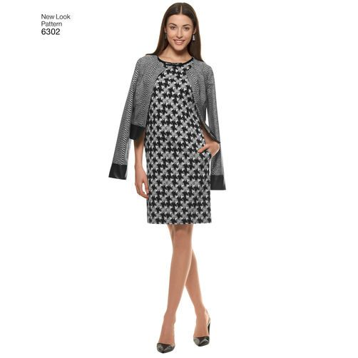 New Look Pattern 6302 Misses' Sleeveless Dress and Jackets: