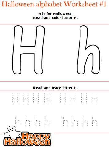 halloween read and color letters worksheets letter h lesson plan pinterest alphabet. Black Bedroom Furniture Sets. Home Design Ideas