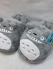 Pantofole Carattere Vello di corallo Scarpe Kigurumi Pigiama Sleepwear Animal Grigio Tinta unitaHalloween / Natale / Giornata universale