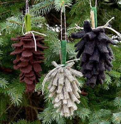 Felt pine cones!