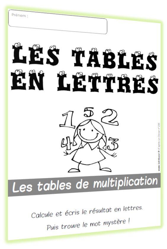 Tables on pinterest for Multiplication en jouant