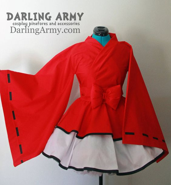 Inuyasha Cosplay Wa Lolita Kimono Dress by DarlingArmy on deviantART increibles los kimonos de todo!!!: